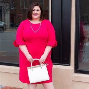 Plus Size Pink Shift Dress